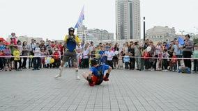 Encaixotamento, exposição 2014 dos esportes - as crianças ostentam o festival, Kiev, filme