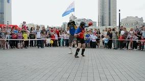 Encaixotamento, exposição 2014 dos esportes - as crianças ostentam o festival, Kiev, video estoque