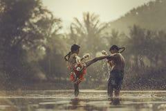 Encaixotamento tailandês Fotografia de Stock