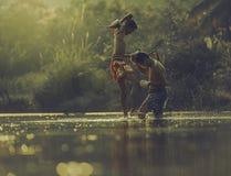 Encaixotamento tailandês Foto de Stock