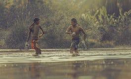 Encaixotamento tailandês Imagens de Stock Royalty Free