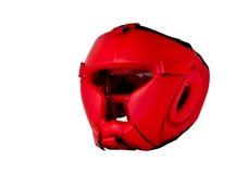 Encaixotamento vermelho do capacete Foto de Stock