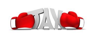 Encaixotando o imposto Imagem de Stock Royalty Free