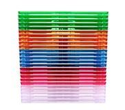 Encaixotando uma caixa para o CD de um disco Fotos de Stock