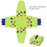Encaixote o molde com punho, com listras e fruto verdes ilustração do vetor