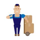 Encajona al trabajador Imagen de archivo libre de regalías