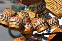 Encajone el arroz de bambú, envase, envase, arroz, sabiduría en Tailandia, Foto de archivo