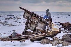 Encalhado perdido e Shipwrecked fotografia de stock