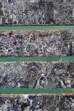 Encalhe a areia do Cararibe branca no solo de madeira do cais Fotografia de Stock Royalty Free