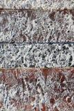 Encalhe a areia do Cararibe branca no solo de madeira do cais Imagens de Stock