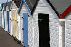 Encalhe cabanas Imagens de Stock