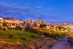 Encalhe Las Americas no console de Tenerife - canário imagens de stock