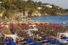 Encalhe no console de Kefalonia em Greece Fotos de Stock Royalty Free