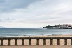 Encalhe o passeio em Sanxenxo no Rias Baixas, Galiza Fotografia de Stock