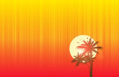 Encalhe o por do sol ilustração royalty free