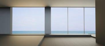 Encalhe a vida na opinião do mar no estilo de vida do feriado Foto de Stock