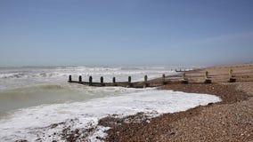 Encalhe a vista ao Worthing do leste Sussex ocidental vídeos de arquivo