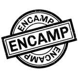 Encamp rubber stamp Stock Image