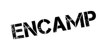 Encamp rubber stamp Royalty Free Stock Photos