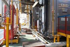 Encanamento da plataforma petrolífera e sistema de transferência da pressão Imagens de Stock Royalty Free