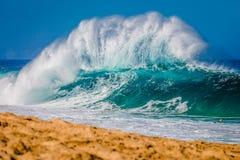 Encanamento de Bonzai na costa norte de Oahu em Havaí fotografia de stock royalty free