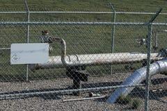 Encanamento do cano principal do abastecimento de gás Imagem de Stock Royalty Free