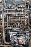 Encanamento do motor de jato das câmaras de ar e das mangueiras Foto de Stock Royalty Free