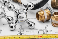 Encanamento e ferramentas fotos de stock royalty free