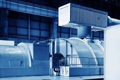 Encanamento térmico e instrumentação do central elétrica, imagens de stock royalty free