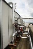 Encanamentos do tratamento do gás Fotografia de Stock