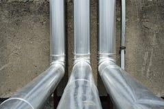 Encanamentos do tratamento do gás Fotos de Stock Royalty Free