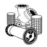 Encanamentos e válvula industriais Fotografia de Stock Royalty Free