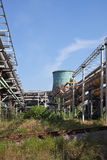 Encanamentos industriais do gás e do calor Imagens de Stock Royalty Free