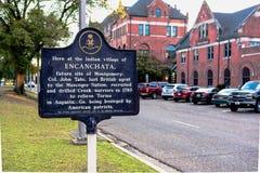 Encanchata historic marker Stock Photo