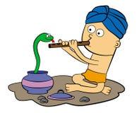 Encantador de serpente ilustração royalty free