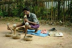Encantador de serpente indiano foto de stock royalty free