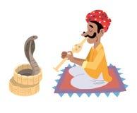 Encantador de serpiente indio ilustración del vector