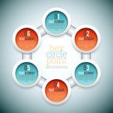Encantar o ponto Infographic do círculo Foto de Stock Royalty Free
