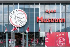 Encante el museo del club holandés Ajax del fútbol Imágenes de archivo libres de regalías