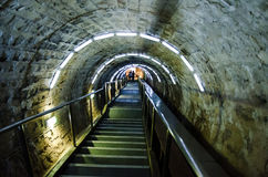 Encante el pasillo en la mina de sal Turda, Cluj, Ro Imagen de archivo