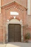 Encante el portal de la abadía de Monlue, Milán, Italia Fotos de archivo libres de regalías