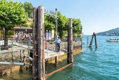 Encante en Bella Island una de las islas de Borromean del lago Maggiore en Italia del norte Imagen de archivo