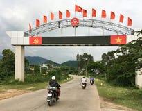 Encante la puerta en la provincia de Dak Lak Fotos de archivo