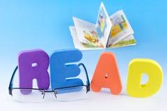 Encanto de las letras de ABC leído Imágenes de archivo libres de regalías