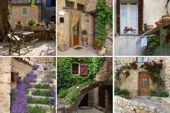 Encanto de Provence detalladamente, collage Imagen de archivo