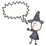 encanto del bastidor del mago de la historieta Imagenes de archivo