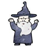 encanto del bastidor del mago de la historieta Foto de archivo libre de regalías