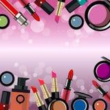 Encanto femenino del diseño del maquillaje de la moda del vector Fotografía de archivo libre de regalías