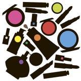 Encanto femenino del diseño del maquillaje de la moda del vector Foto de archivo