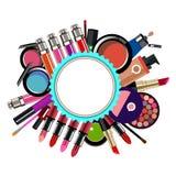 Encanto femenino del diseño del maquillaje de la moda del vector Imagenes de archivo